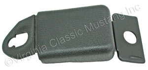 71-73 SEAT BELT SHOULDER HARNESS ANCHOR BOLT COVER-ALSO HOLDS SEAT BELT BUCKLE WHEN NOT IN USE-BLACK-EACH (2 REQUIRED PER CAR)