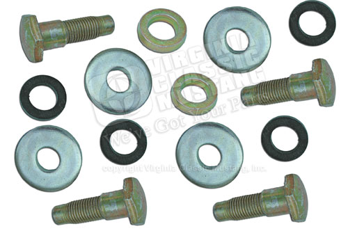 67-68 (BEFORE 2-29-68) FRONT SEAT BELT BOLT SET (4 BOLTS AND 10 WASHERS)