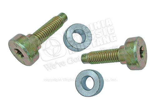 67-73 FRONT SEAT BELT BOLT SET FOR SHOULDER STRAPS ONLY (2 BOLTS AND 2 WASHERS)