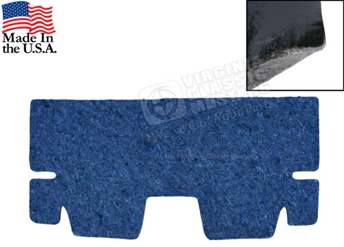65-70 Mustang Sound Deadener / Heat Barrier / Underlayment - Coupe - Transition area from rear seat to trunk area