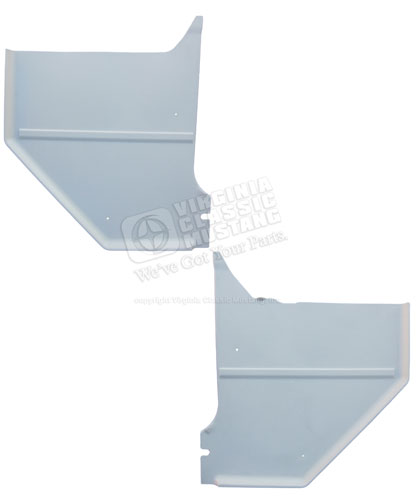 65-66 MUSTANG COUPE/FASTBACK KICK PANELS WHITE - SHOW QUALITY 100% EXACT STYLE PAIR