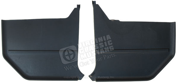 65-66 MUSTANG CONVERTIBLE KICK PANELS - PAIR - BLACK - SHOW QUALITY 100% EXACT STYLE