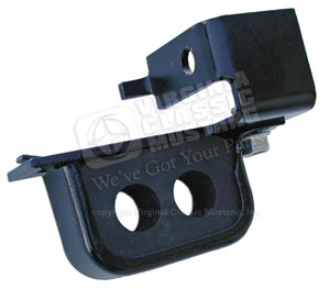67-70 SHELBY AND BIG BLOCK POWER STEERING HOSE FRAME BRACKET WITH RUBBER BLOCK
