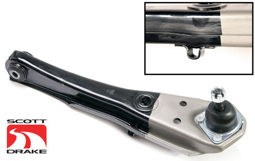 68-69 LOWER CONTROL ARM-SCOTT DRAKE BRAND WITH JACKING TABS
