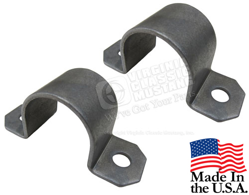 65-66 GT350 SHELBY MUSTANG ONE INCH SWAY BAR BUSHING BRACKETS - PAIR