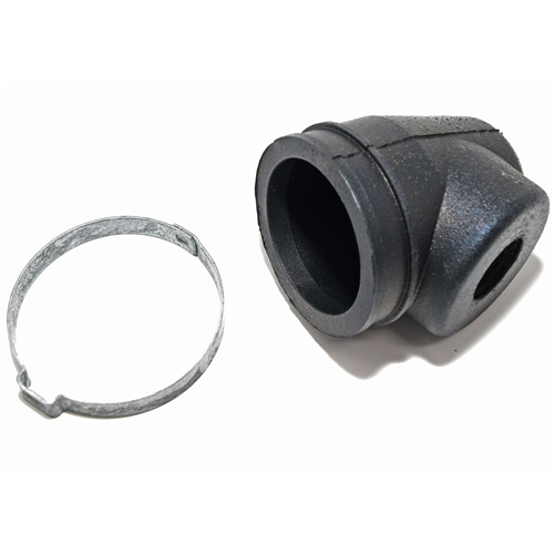 POWER STEERING CYLINDER ELBOW DUST BOOT AND CLAMP