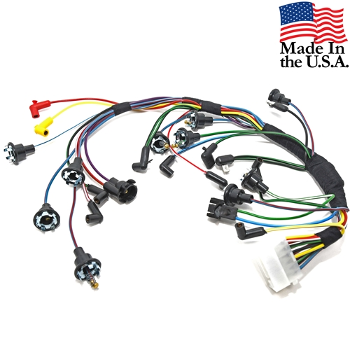 67 INSTRUMENT CLUSTER WIRING HARNESS WITHOUT FACTORY TACH