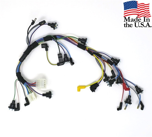 68 INSTRUMENT CLUSTER WIRING HARNESS- USE ON CAR EQUIPPED WITHOUT TACH