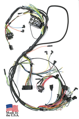 65 Mustang Under Dash Wiring Harness - Use with lamps and early 2 spd heater (before 4/1/65)