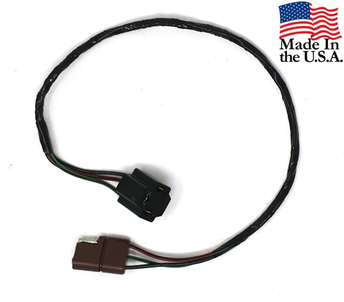 67-68 HEADLAMP EXTENSION WIRE AND PLUG-BROWN