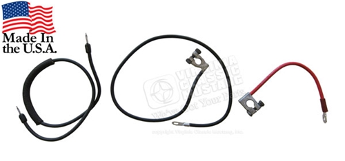 1967 Mustang Battery and Starter Cable Set
