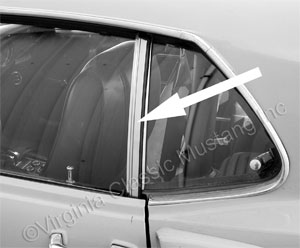 69-70 LH FASTBACK STAINLESS VERTICAL WINDOW CHANNEL