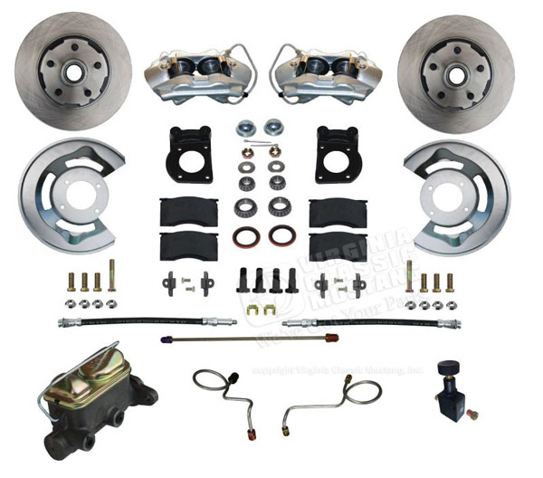 67-69 NON-POWER FRONT DRUM TO DISC BRAKE CONVERSION KIT