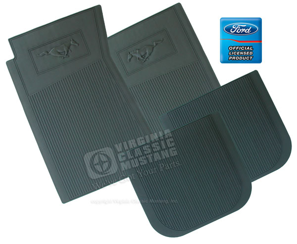RUBBER PONY FLOOR MATS-SET OF 4 *INDICATE COLOR*