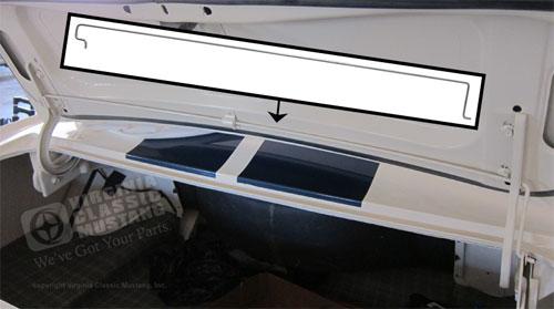 65 66 Fastback Trunk Lid Torsion Rod Spring