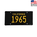 1965 California License Plate - Embossed