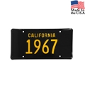 1967 California License Plate - Embossed