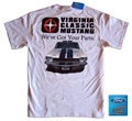 VIRGINIA CLASSIC MUSTANG T-SHIRT WITH 1965 GT350 MUSTANG DESIGN - ASH GRAY *SPECIFY SIZE*