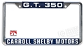 Carroll Shelby Motors GT350 License Plate Frame