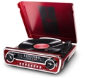 Mustang 4-in-1 retro music center with Turntable, Radio, USB and Aux input