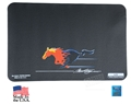 Flaming Mustang Running Horse Logo Fender Gripper Fender Cover