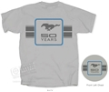 GRAY MUSTANG T-SHIRT WITH 50TH ANNIVERSARY LOGO