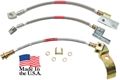1970 Mustang Braided Brake Hose Set - 2 Front Disc Hoses and Rear Drum Hose