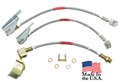 71-73 Mustang Braided Brake Hose Set - 2 Front Disc Hoses and Rear Drum Hose