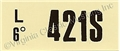 69-70 428 CJ AT ENGINE CODE DECAL  421S