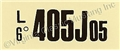 68 GT-500 AT ENGINE CODE DECAL  405J05