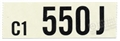 65 289-2V AUTO TRANS ENGINE CODE DECAL 550J
