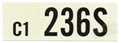 66 289-2V AUTO TRANS ENGINE CODE DECAL 236S