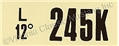 67 289 HIPO MT ENGINE CODE DECAL 245K