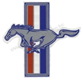 "LH RUNNING HORSE EMBLEM DECAL 5""  DZ-253"