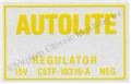65-67 VOLTAGE REGULATOR DECAL