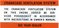 64-65 CRANKCASE VENTILATION DECAL