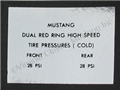 65-66 RED LINE TIRE PRESSURE DECAL