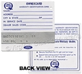 OWNERCARD-SHIP FROM MANUFACTURER *SPECIFY ALL INFO FOR STAMPING* *****NOTE--NOT AVAILABLE FOR 64.5 OR 65***