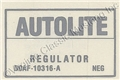 71 NO AIR VOLTAGE REGULATOR DECAL