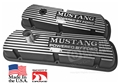 BLACK MUSTANG VALVE COVERS-PAIR