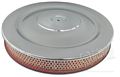 CHROME AIR CLEANER WITH BLUE BASE-EXACT REPRODUCTION  V8