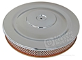 CHROME AIR CLEANER WITH GOLD BASE-EXACT REPRODUCTION  V8