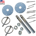 65-66 GT350 Shelby Hood Pin Kit - Exact