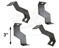 65-66 FAN SHROUD BRACKETS FOR THICK 4 ROW RADIATOR-SET OF 4