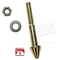 65-66 Mustang Gold Zinc Hood Latch Pin with Phosphate Nut and Washer
