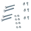 65-69 Dual Exhaust Hanger Fastener Kit - Economy Version