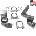 EXHAUST HANGER KIT FOR 67 SINGLE EXHAUST V8 (ALL) AND 6 CYL(AUTOMATIC TRANSMISSION) 2""