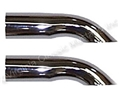 "2 1/2"" CHROME EXHAUST TURNDOWN TIPS-PAIR"