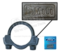 CORRECT FOMOCO STAMPED 2 1/8 INCH EXHAUST CLAMP-EACH