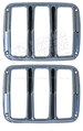65-66 Chrome Tail Light Door Bezels - Show Quality - Pair